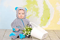 Велюровый комбинезон утепленный 'My baby' для новорожденных, слингокомбинезон, фото 1