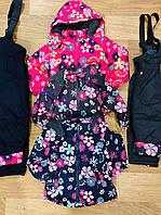 Комбинезон для девочек на флисе оптом (куртка +комбинезон), Taurus, 1-5 лет, DL-637