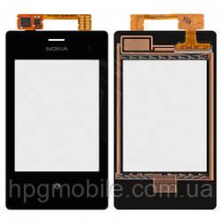 Сенсорный экран для Nokia Asha 503 Dual Sim, черный, оригинал
