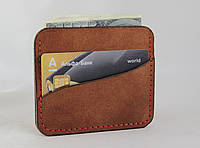 Кожаный кошелек. Холдер для кредитных карт и наличных денег