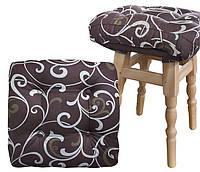 Мягкая подушка на стул 40х40х7 (поликоттон_мебельная вата) тм DOTINEM