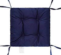 """Мягкая подушка на стул (синий) 40х40х5 """"COLOR"""" тм DOTINEM"""