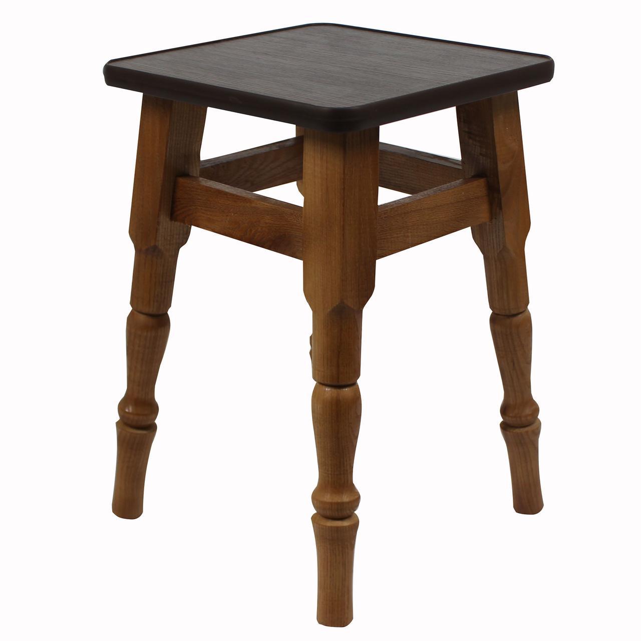 """Кухонный деревянный табурет с фигурными ножками """"Венге"""""""