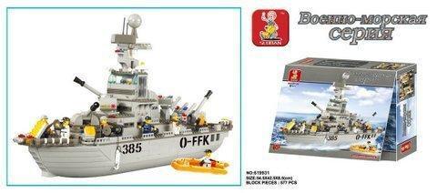 Конструктор SLUBAN Военно-морская серия M38-B0126R, 577 деталей