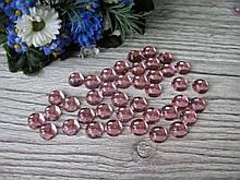 """""""Крапелька роси"""" клейовий декор, 8 мм, колір рожевий, ціна 12 грн - 50 шт"""