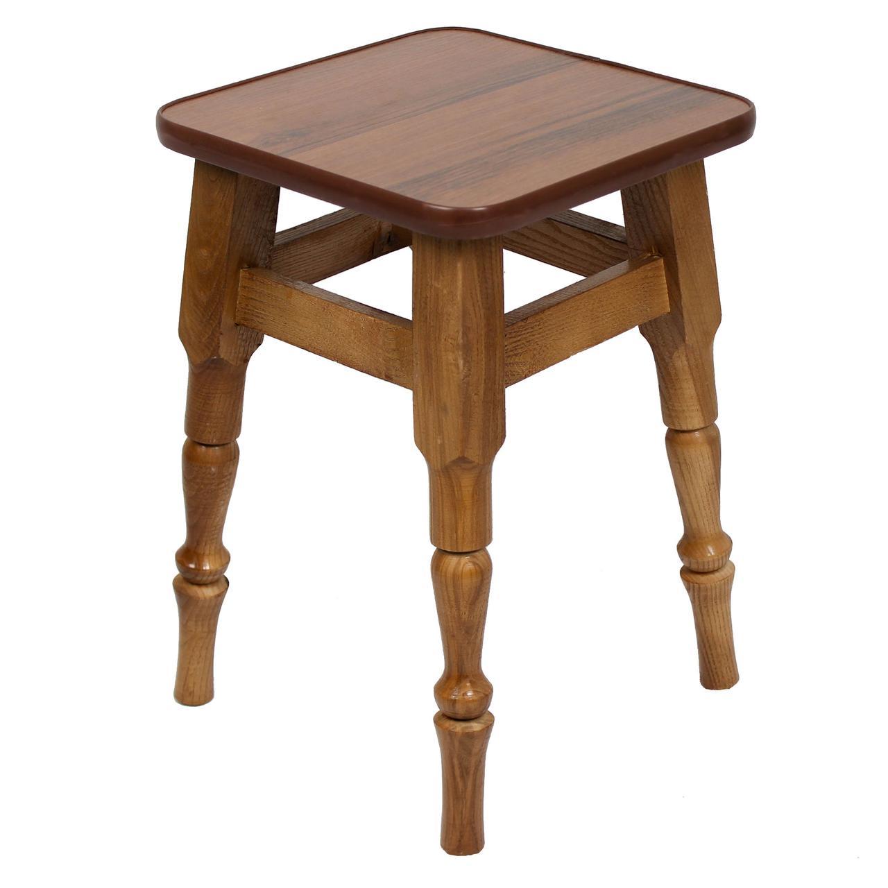 """Кухонный деревянный табурет с фигурными ножками """"Орех"""""""