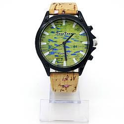 Часы с салатовым циферблатом, циферблат 38 мм, р.18-22,5 см
