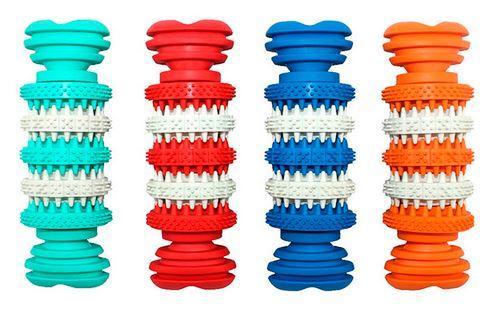 Игрушка резиновая массажная Косточка с шипами 5*15 см ER006 ZooMax
