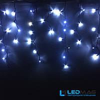 Светодиодная гирлянда уличная Бахрома Flash 3х0.7 м 100LED (10 мигающих) каучук белая на белом проводе