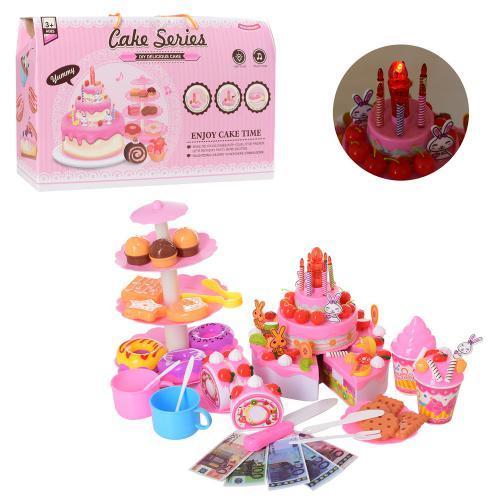 Игровой музыкальный набор торт сладости и свечи YH-03E