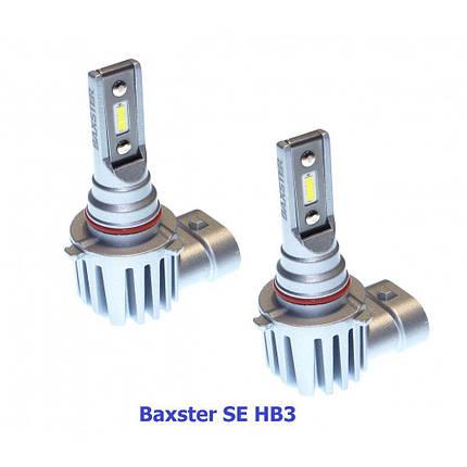 Комплект LED ламп BAXSTER SE HB3 P20d 9-32V 6000K 2600lm с радиатором, фото 2