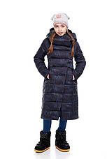 Детский зимний пуховик для девочки  на синтепухе без меха, внутри флис Комильфо |122-158р., фото 3