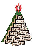 """Деревянный адвент-календарь, рождественский календарь """"Ёлочка"""" на 31 день"""