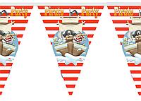 """Баннер для детского праздника  """"Пираты"""" 7256"""
