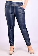 Женские теплые брюки под джинс на искусственном меху Ира 537-4-2 XXL. Размер 46-50.