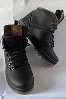 SPLINTER Подростковые зимние кожаные ботинки, черные, прошитые