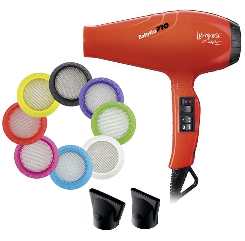 Фен для волос Babyliss BAB6350IOE Luminoso Arancio профессиональный, 2100 Вт