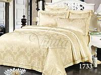 Евро комплект постельного белья из прочной ткани сатин жаккард Tiare