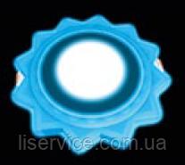 Светильник точечный Ecostrum LED з підсвіткою 6+3W вбудоване коло, сонце синий