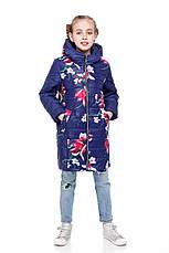 Детское зимнее пальто для девочки  на синтепухе, внутри флис Веста |122-158р., фото 3