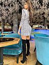 Платье из переливающего трикотажа с вырезом - каплей и юбкой на запах 71py399, фото 3