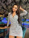 Платье с переливом с верхом на запах и воланом на юбке 71py404, фото 4