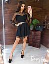 Пышной платье из сетки на подкладе с принтом звезды и длинным рукавом 66py419Q, фото 6