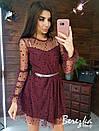 Пышной платье из сетки на подкладе с принтом звезды и длинным рукавом 66py419Q, фото 9