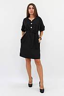(S, M, L) Ультрастильне чорне повсякденне плаття
