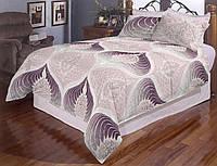 Простынь на полуторную кровать Вилена бязь Голд Павлин размер 145х220