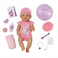Куколка Baby Born Очаровательная малышка 43 см с чипом и аксессуарами