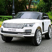 Двухместный детский электромобиль M 4175 EBLR-1 Land Rover, белый
