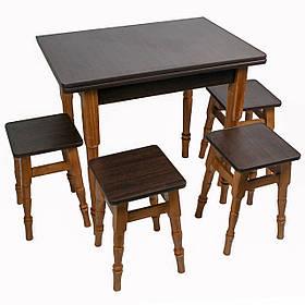 """Раскладной обеденный стол с табуретками """"Венге"""""""
