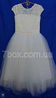 Детское нарядное платье бальное Бэль Молочное 6-7 лет. Опт и Розница