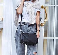 Женская кожаная сумка кросс-боди на три отделения Polina & Eiterou