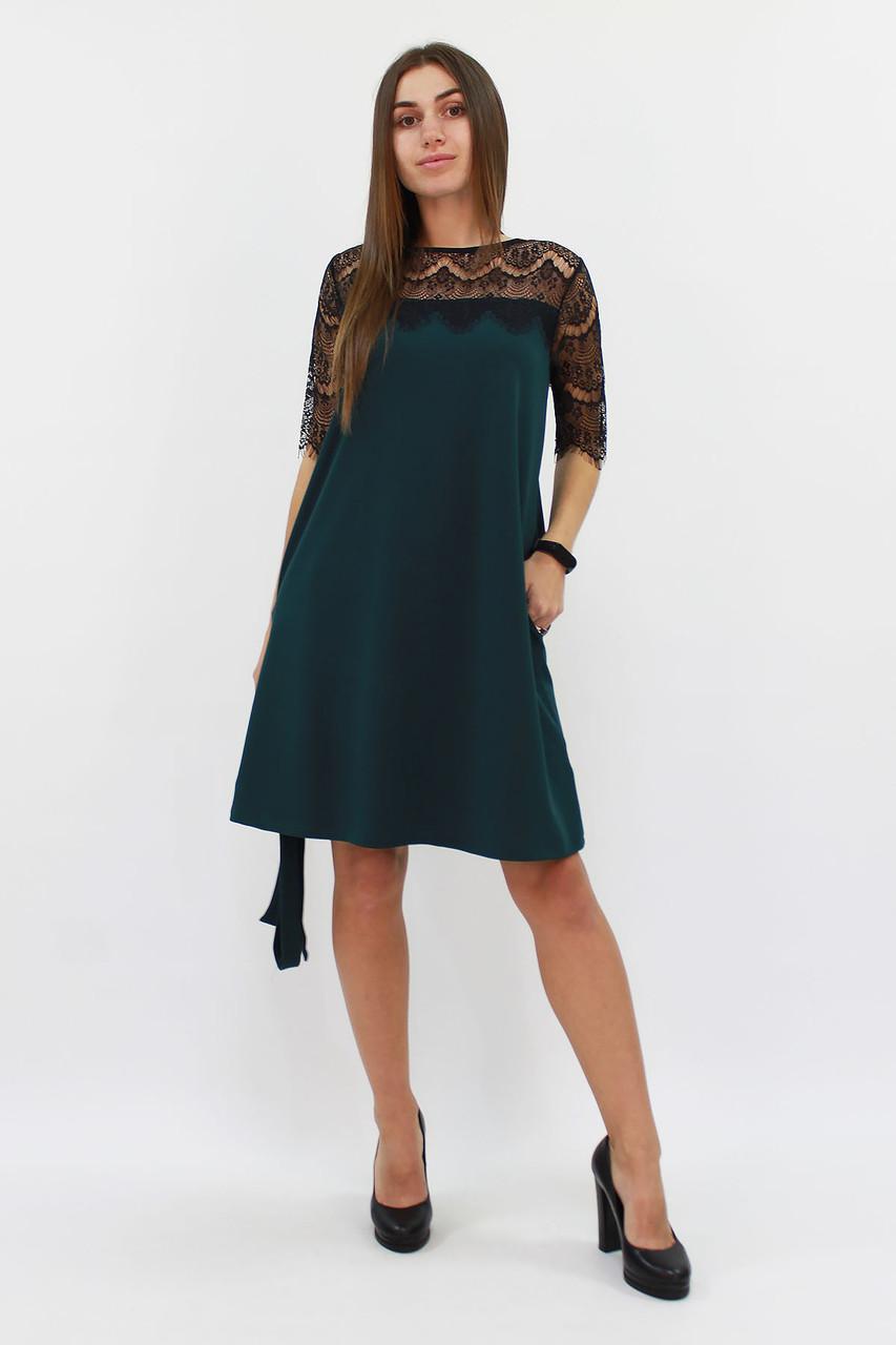 (S, M, L) Коктейльне темно-зелене плаття