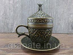 Турецкая чашка для кофе 110 мл, цвет: бронза
