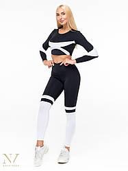 Спортивные Женские Лосины Nova Vega Milana Black&White