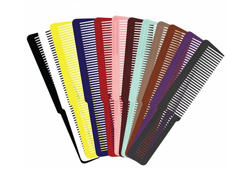 Расческа плоская цветная Wahl Colored Flat Top, 1 шт. (4502-7180), фото 2
