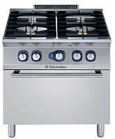 Плита газовая (4 горелки по  5,5 кВт каждая) на газовом жарочном шкафу