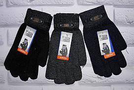 Мужские перчатки рукавицы сенсорные плотные утепленные Корона (8124)