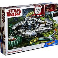 Трек Хот Вилс Звездные войны Hot Wheels Star Wars Falcon Trackset Mattel DWM85