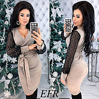 Женское теплое нарядное платье
