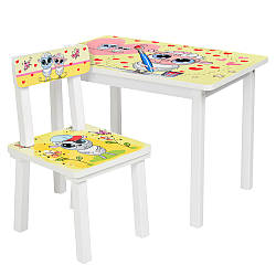 Столик со стульчиком детский Bambi BSM2K-30 Овечка-художник