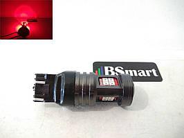 Автолампа LED BSmart T8 13SMD, 7443, W21/5W, 10-50V, Красный