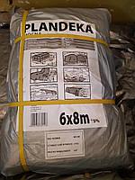 Тент Tenexim Mocny 6*8 м, готовые размеры в асс., плотный 120 г/м2 серебряный с УФ-защитой
