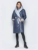 Женский пуховик одеяло с капюшоном оверсайз play M 46 серый UAJJ033_4p