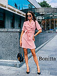 Женское красивое платье-пиджак с поясом (3 цвета), фото 3
