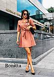 Женское красивое платье-пиджак с поясом (3 цвета), фото 5