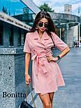 Женское красивое платье-пиджак с поясом (3 цвета), фото 4